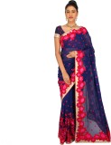 Ashika Embroidered Fashion Georgette Sar...