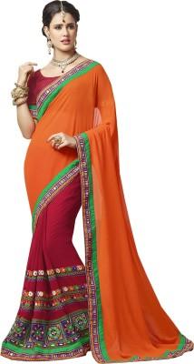 Khantil Embriodered Fashion Raw Silk Sari