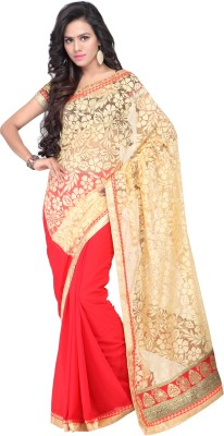 Sarvagny Clothing Solid Bollywood Brasso, Jacquard Sari