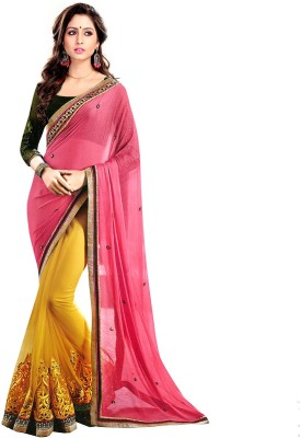Heaven Deal Embriodered Fashion Georgette Sari