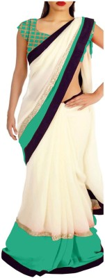 meshwafashion Self Design Fashion Chiffon Sari