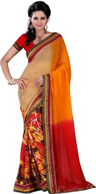 Yehii Printed Fashion Georgette Sari
