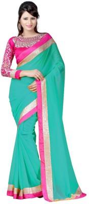 Harsiddh Fashion Self Design Bollywood Georgette Sari