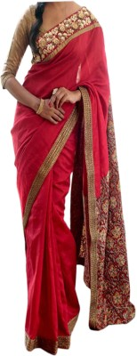 Dertaste Embellished Fashion Satin Sari