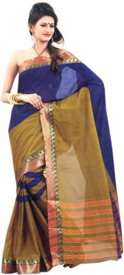 Studio Shringaar Striped Venkatagiri Art Silk Sari