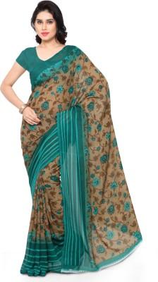 Triveni Printed Fashion Jacquard Saree(Beige) at flipkart