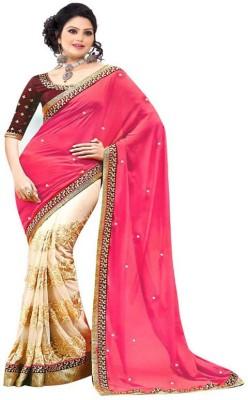 Yatri Silk Mills Embriodered Fashion Georgette Sari