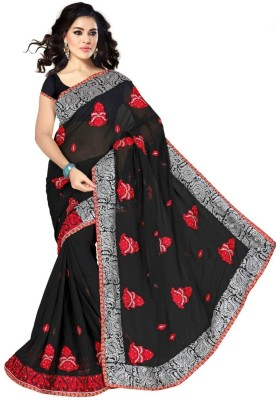 Alliance Fashion Self Design, Solid Fashion Georgette Sari