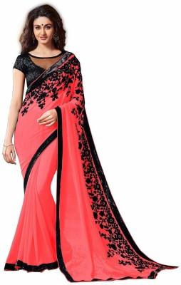 TAPI INTERNATIONAL Embriodered Fashion Georgette Sari