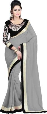 Zeel Fashion Embriodered Fashion Handloom Georgette Sari