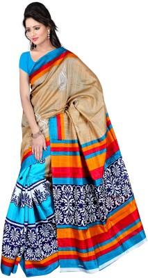 Devenir Printed Bhagalpuri Cotton Linen Blend Sari