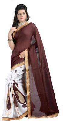 BarodaFashion Embriodered Bollywood Velvet Sari