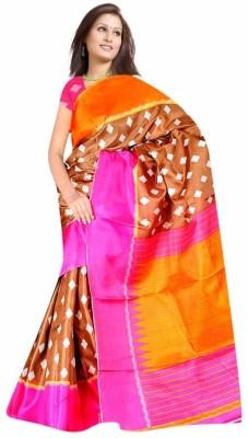 DFTZ Geometric Print Bhagalpuri Printed Silk Sari