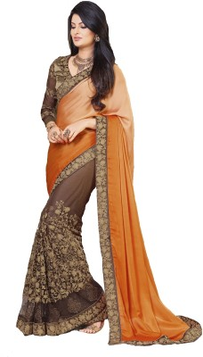 Fashion Forever Embriodered Fashion Lycra, Net Sari