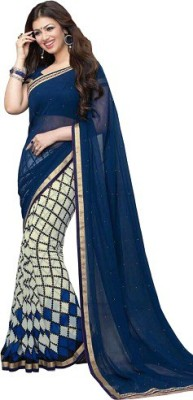 Shree Creation Printed Bollywood Georgette Sari