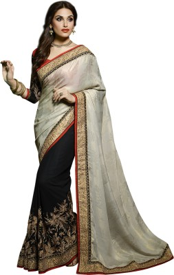 Indian E Fashion Embriodered Fashion Georgette Sari