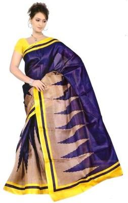 The Designer House Striped, Printed Fashion Art Silk Sari