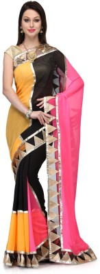 Fabroop Self Design Fashion Georgette Sari