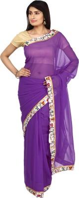 Vastra Buzz Solid Fashion Georgette Sari