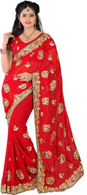 Mahadevi Embriodered, Embellished Bollywood Georgette Sari