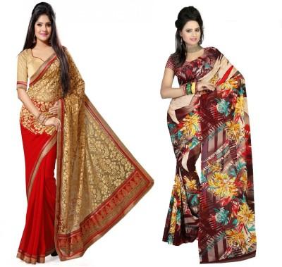 Indian E Fashion Embriodered, Printed Fashion Brasso, Georgette Sari