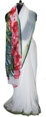Rangat Solid Fashion Georgette Sari