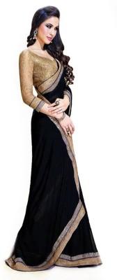 Hanscreation Embriodered Bollywood Chiffon Sari