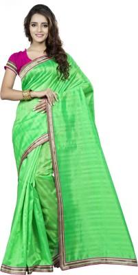Saara Solid Fashion Silk Saree(Green) at flipkart