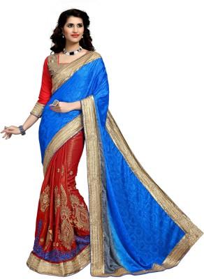 Khushali Self Design, Embriodered, Embellished Fashion Jacquard, Jacquard Sari