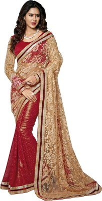 Dhnet Embriodered Fashion Handloom Brasso Sari