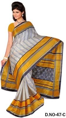 Veebee Self Design Fashion Silk Sari