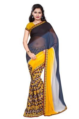 PAHAL FASHION Self Design, Printed Fashion Georgette Sari