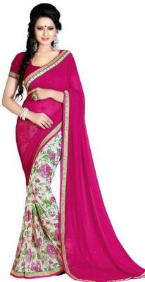 Shyam Creations Floral Print Bollywood Georgette Sari