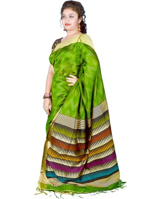 Kakali Self Design Shantipur Handloom Silk Wool Blend Sari