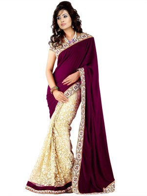 Maitri Embriodered Fashion Velvet Sari