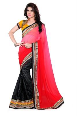 Trendyavenue Embriodered Fashion Georgette Sari