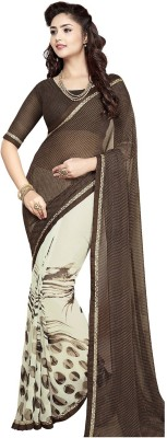Jevi Prints Geometric Print Fashion Synthetic Sari