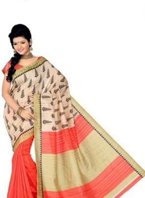 Vihana Printed Bhagalpuri Dupion Silk Sari