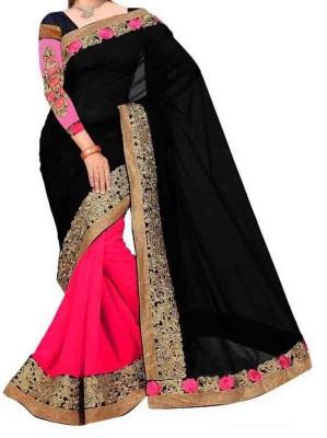 Crishna Enterprises Self Design Fashion Georgette Sari