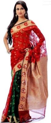 Mirror Fashion Applique Jamdani Handloom Net Sari