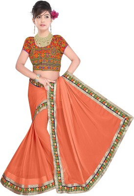 Sonani Exports Embriodered Bollywood Pure Chiffon Sari