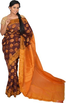 Pooja Printed Coimbatore Handloom Cotton, Silk Sari