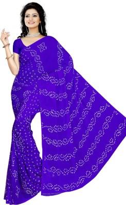 JODHANABANDHEJ Self Design Bandhej Chiffon Sari