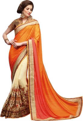 Ethnic Point Embriodered Fashion Pure Georgette Sari