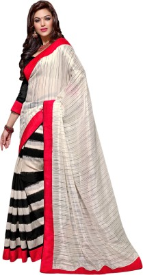 Aryahi Solid Fashion Crepe Sari