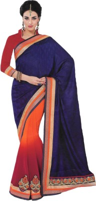 Banjaraindia Embriodered Fashion Georgette Sari