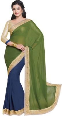 Kintu Designs Pvt. Ltd. Plain Fashion Viscose Sari