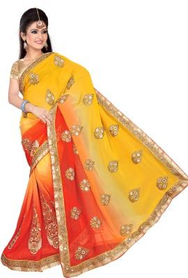 Krishna Creation Self Design Fashion Georgette Sari