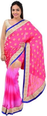 Shree Sai NX Plain Fashion Georgette Sari
