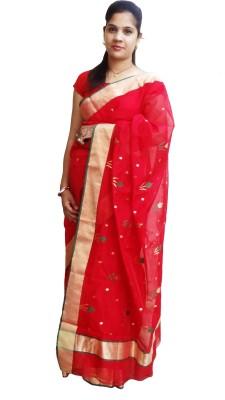 Mvd Fashion Woven Chanderi Handloom Chanderi, Silk Cotton Blend Sari
